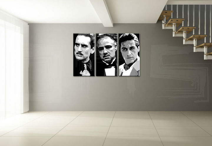 Ručno slikani Pop Art - Popust 25 % GODFATHER 3-delne 180x120 cm god123/24h
