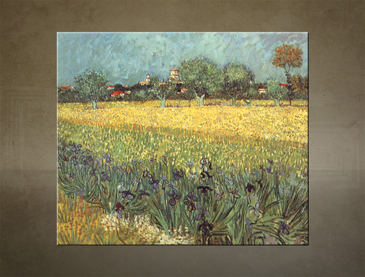 Slika na platnu VIEV OF ARLES WITH IRISES – Vincent van Gogh