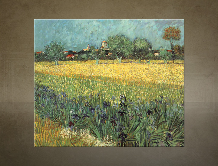 Slika na platnu VIEW OF ARLES WITH IRISESES – Vincent van Gogh
