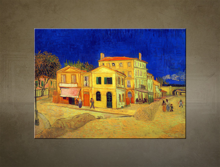 Slika na platnu THE YELLOW HOUSE – Vincent van Gogh