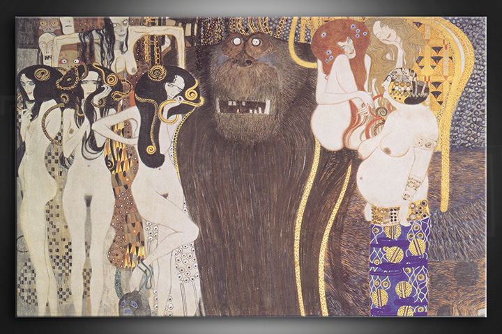 Slika na platnu THE BEETHOVEN FRIEZE – Gustav Klimt