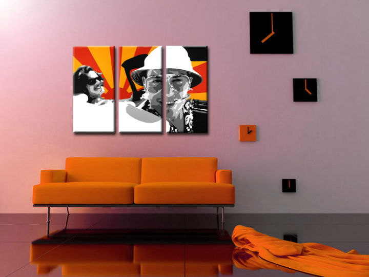 Ručno slikane slike na platnu na platnu POP Art Fear and Loathing in Las Vegas 3