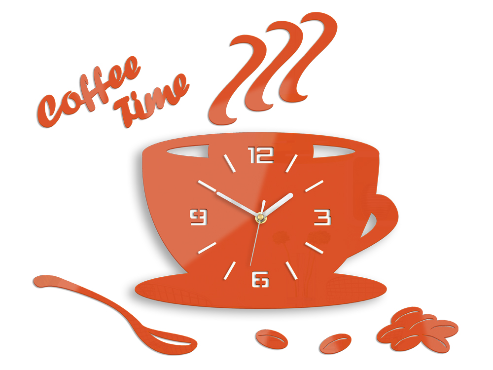 Zidni satovi COFFE TIME 3D ORANGE HMCNH045-orange